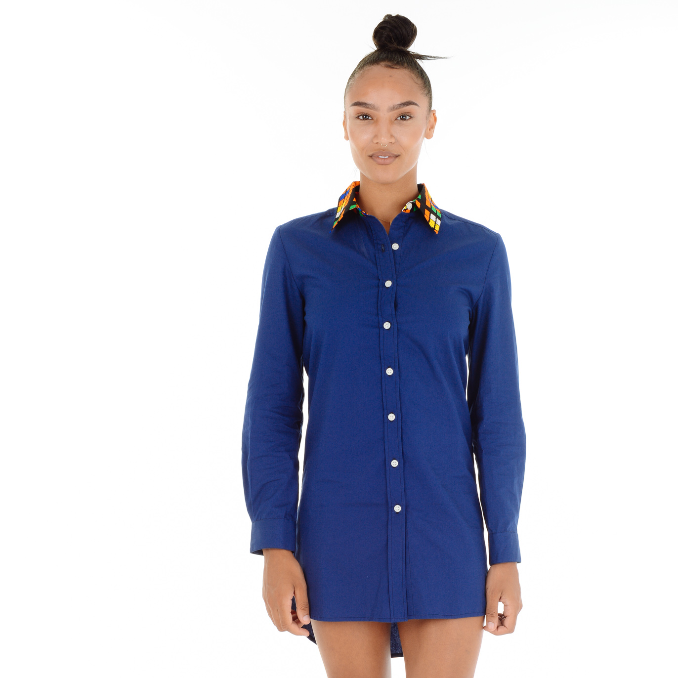Tami Blue Shirt Dress