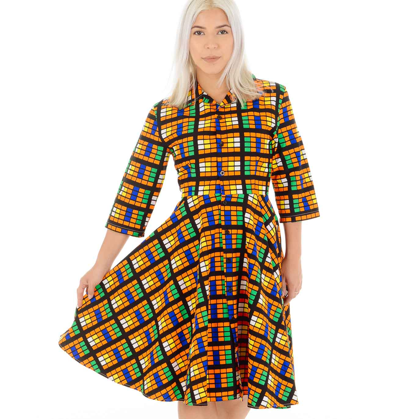 Tokunbo Flared 3-4 Sleeved Dress