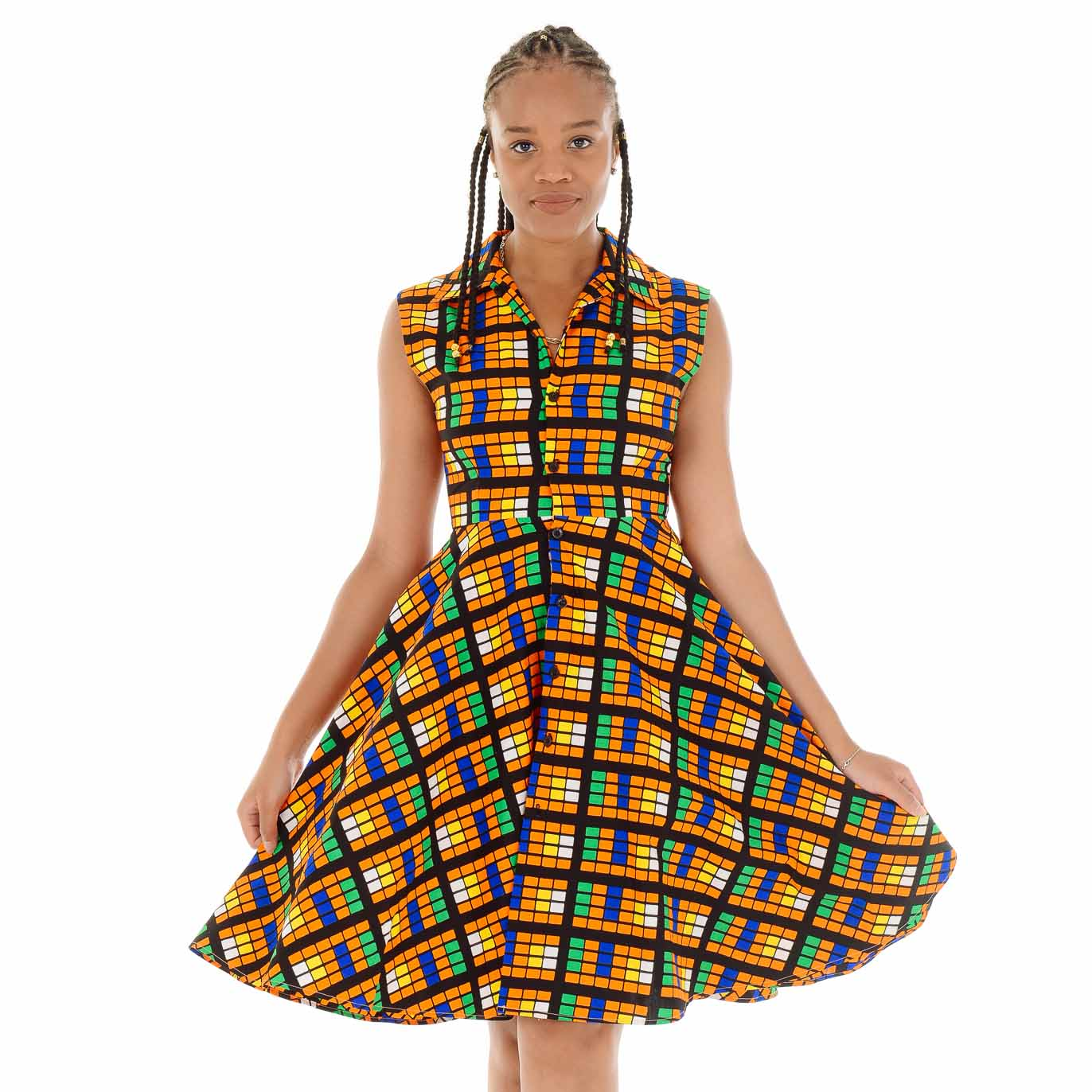 Tokunbo Flared Sleeveless Dress