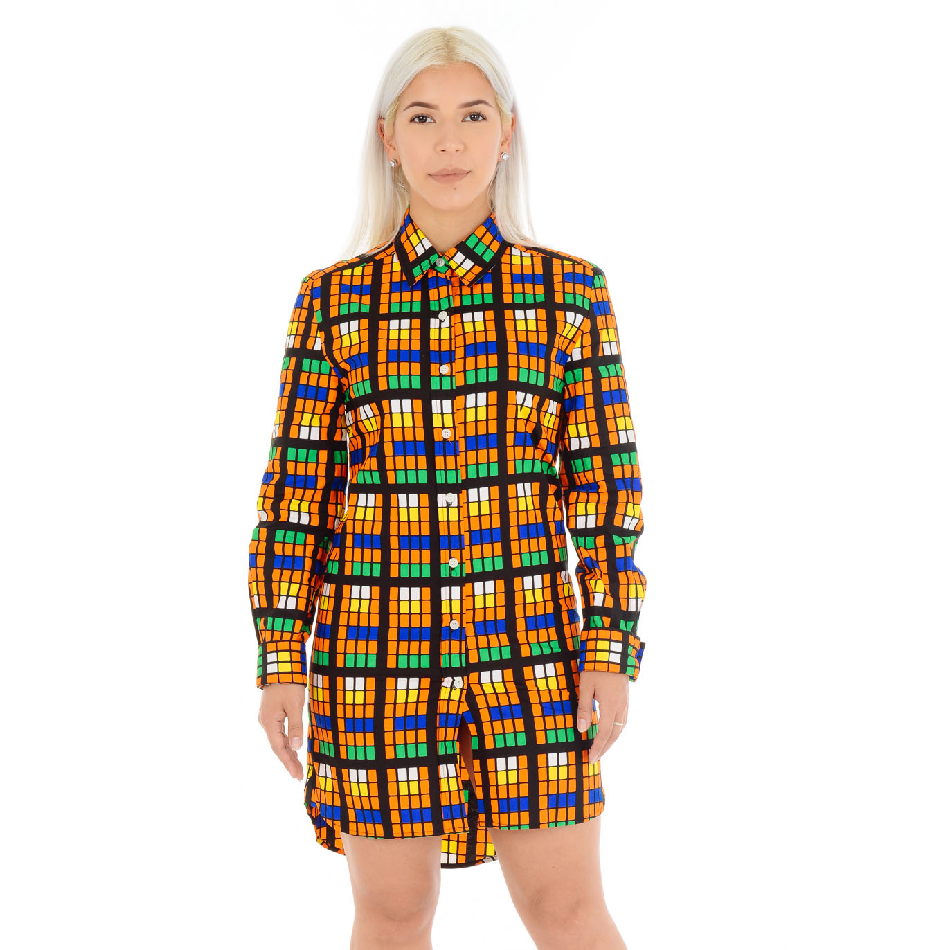 Tosin Buttoned Shirt Dress