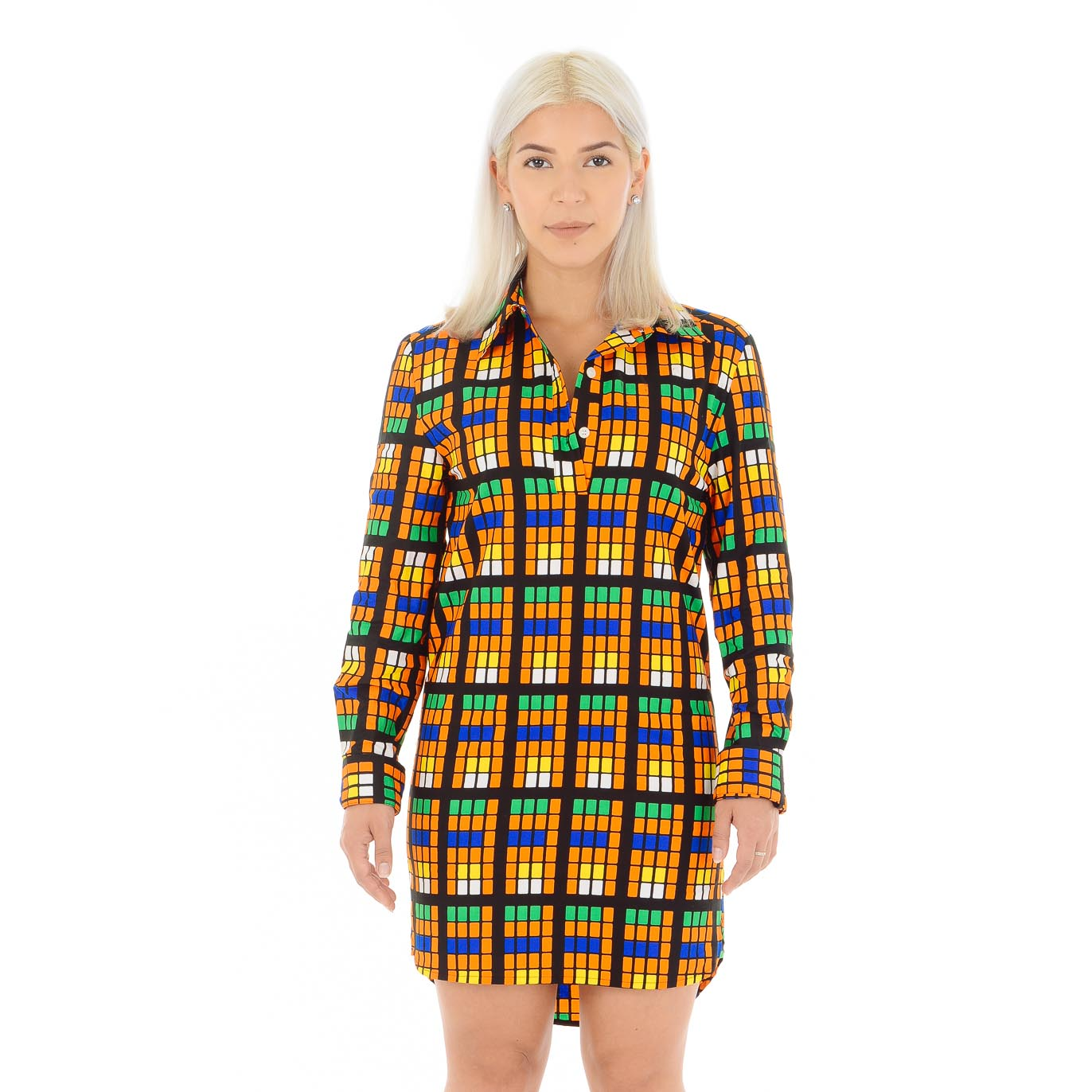 Tumi Half Buttoned Shirt Dress