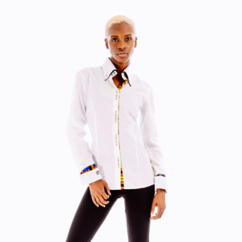 Thando White Mixed Shirt